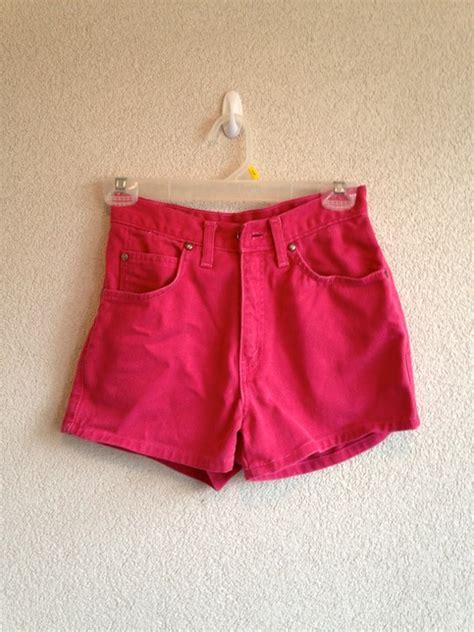 vintage hot pink high waisted denim shorts  storenvy