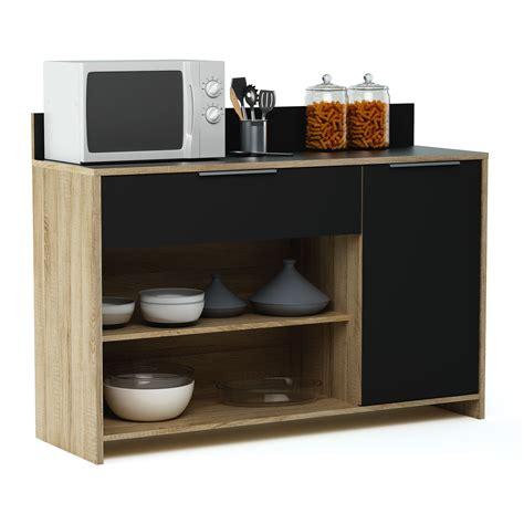 meuble cuisine auchan meuble desserte en bois 1 porte 1 tiroir 2 niches l123 x