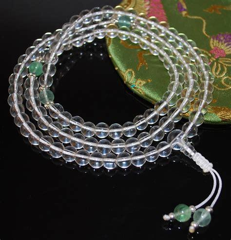 Crystal Mala Prayer Beads - Sakura Designs