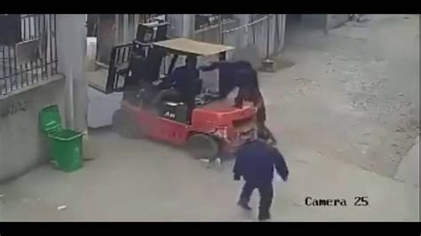 Shocking Women Crushed By Forklift In China