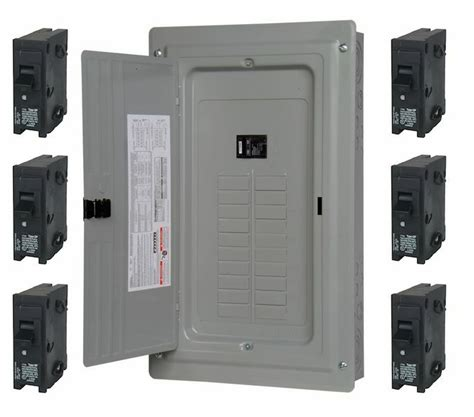 100 40 circuit 20 space load center panel includes 6 20 breakers ebay