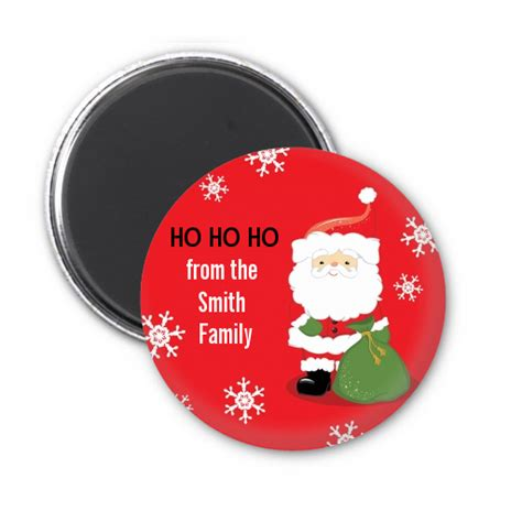 santa claus personalized christmas magnet favors