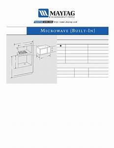 Maytag Mmv5000ada Dimension Guide User Manual