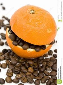 Coffee And Orange Stock Photo  Image Of White  Roasted