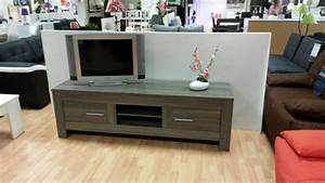 Meuble Chene Gris : meuble tv portofino chene gris chene gris l 180 x h 55 x p 50 ~ Teatrodelosmanantiales.com Idées de Décoration