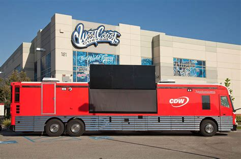 West Coast Customs Outfits Bus to Showcase Cutting-Edge ...
