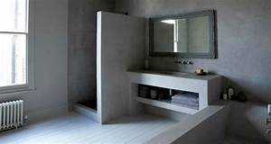 beton cire pour salles de bain With beton cire salle de bains