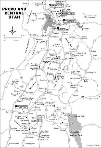 Provo Utah City Map