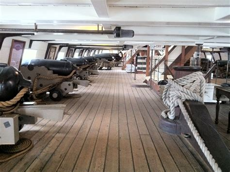 Sailboats Quarterdeck by Gun Deck Of The Uss Constellation A Mid Nineteenth