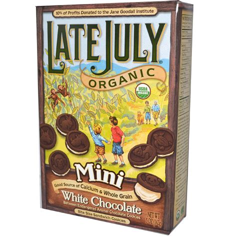 Late Bite late july organic mini bite size sandwich cookies white