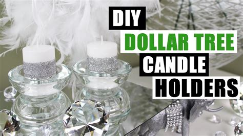 diy dollar tree glam candle holders dollar store candle