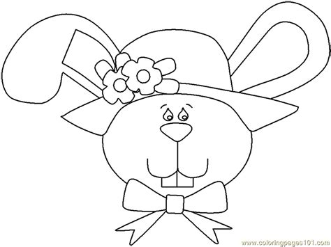 easter bunny face coloring page  easter bunnies coloring pages coloringpagescom