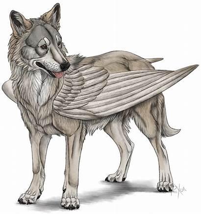 Mythology Creatures Winged Dog Mythical Wolf Deviantart