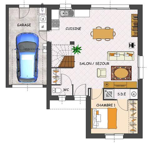 plan de maison 2 chambres construction maison neuve mimosa lamotte maisons