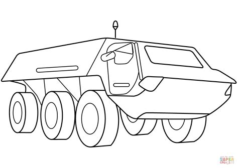 armored security vehicle coloring page  printable