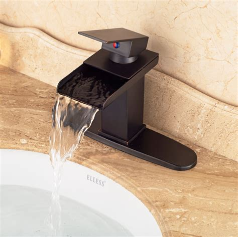 bronze sink hole cover high quality cheap waterfall single lever bathroom sink