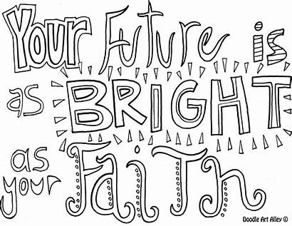 Coloring Pages Faith Adult Sheets Quote Inspirational