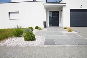 focus dallage entree moderne terrasse et patio With idee terrasse exterieure contemporaine 10 jardin contemporain conseils damenagement idee deco