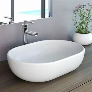 Aufsatzwaschbecken 30 Cm Tief : neg aufsatz waschbecken uno34a oval waschbecken real ~ Indierocktalk.com Haus und Dekorationen