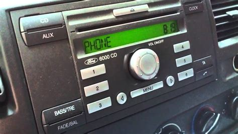 ford 6000 cd ford 6000 cd switching between phone and radio