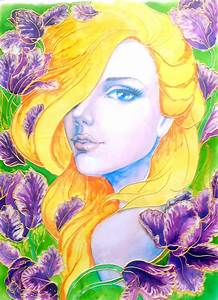 Glass, Painting, Of, Orchid, Lady, U2013, Creative, Art