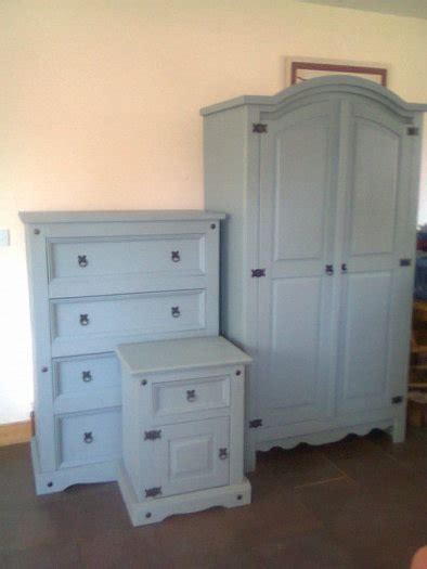 Upcycled Mexican Pine 3 Piece Bedroom Set With Farrow Ball