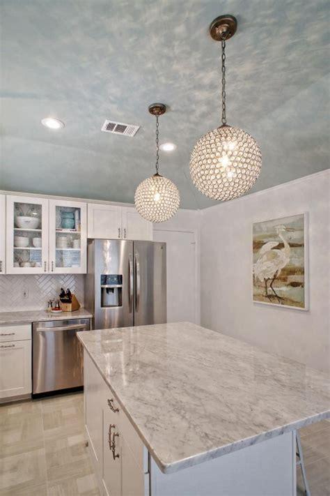 light  bright modern kitchen  crystal globe