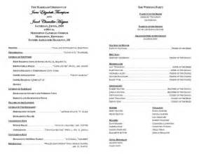 Sample Catholic Wedding Program Template