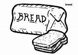 Bread Coloring Pages Wheat Colouring Loaf Printable Toast Template Grains Breads Meatloaf Clipart Sketch Clip Trending Days Last Getcolorings sketch template