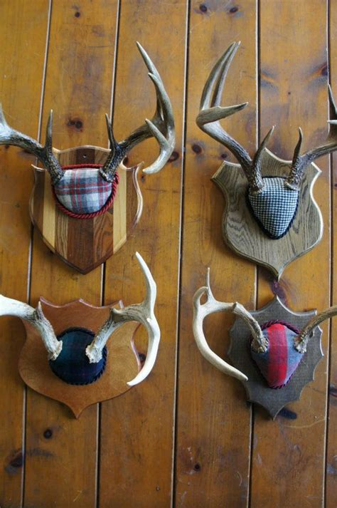 deer antlers and plaid for christmas vintage deer antler mount plaid decor plaid horn whitetail buck primitive rustic
