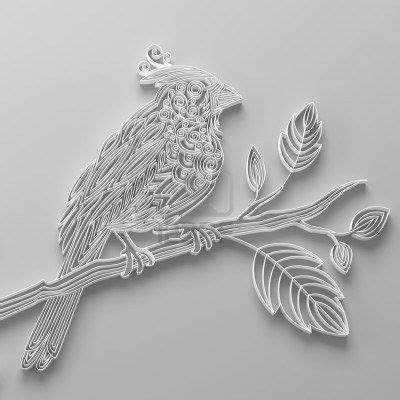 cardinal paper quilling quilling quilling animals