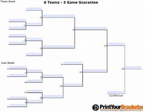 6 team draw template - fillable 6 team 3 game guarantee tourney bracket