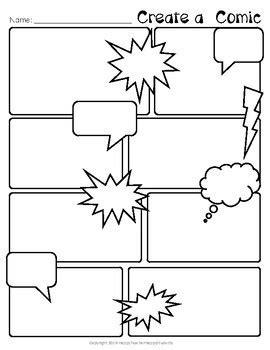 Comic Templat by Free Comic Strip Template Comic Book Paper By