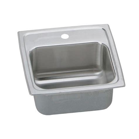 Home Depot Drop In Bar Sink by Elkay Lustertone Drop In Stainless Steel 15 In 1 Bar