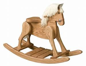 Small Wooden Rocking Horse- OAK ColoradoRustic - Toys on
