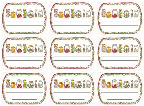 Chutney Label Templates by Free Jam Labels Popular Sles Templates