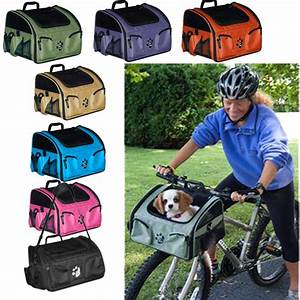 3 in 1 bike bicycle basket dog cat carrier car seat travel for Rear gear dog