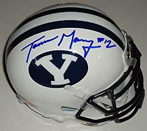 Amazon.com: Tanner Mangum signed BYU Cougars Football mini ...