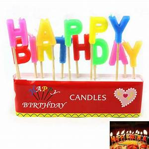 happy birthday english letter style candle red With letter candles