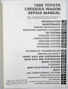 1985 Toyota Cressida Station Wagon Repair Manual