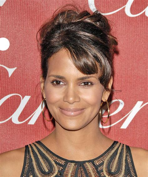 halle berry formal long curly updo hairstyle  side