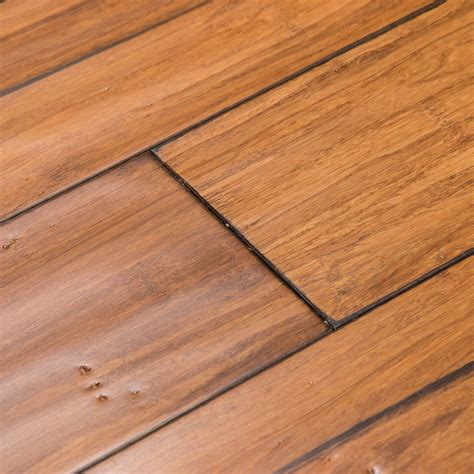mocha bamboo flooring shop cali bamboo fossilized 5 in prefinished distressed mocha bamboo hardwood flooring 19 91 sq