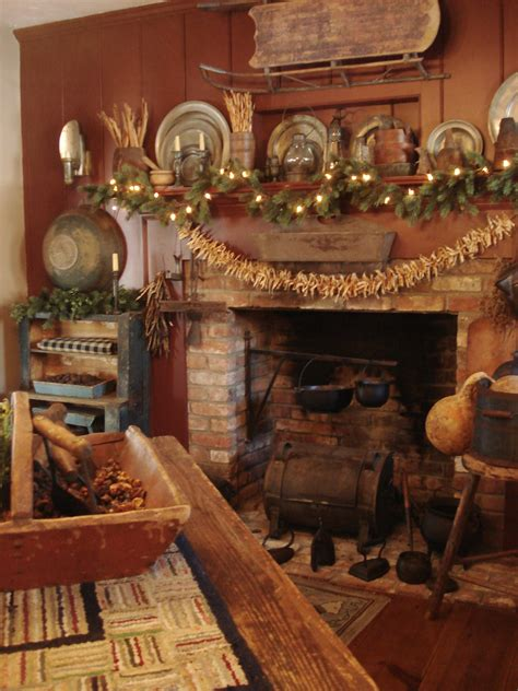 Primitive Decorating Ideas For Fireplace by Pin By Jones On Primitive Fireplaces