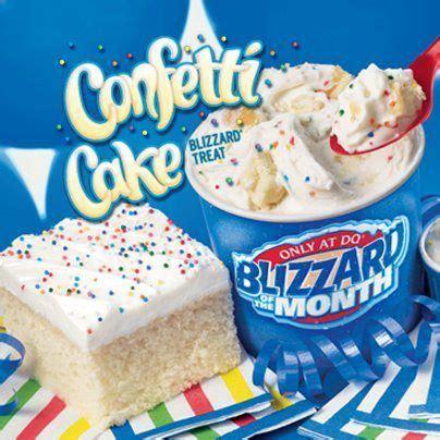 dairy queen confetti cake blizzard    frozen