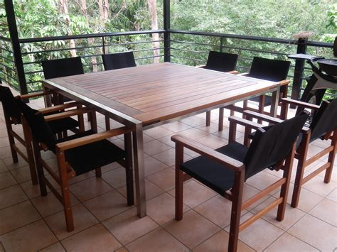 barrel table timber outdoor furniture brisbane agfc