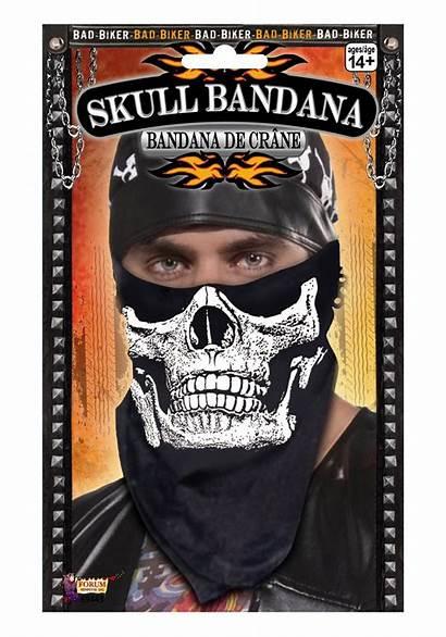 Biker Skull Face Bandana Halloween Bandanna Costume