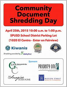 community document shredding day south pasadena kiwanis club With document shredding pasadena ca