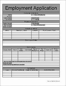 free basic job application from formville With basic employment application template free