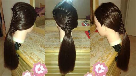 peinados faciles  nina  trenzas  cabello largo bonitos  nuevo  escuela