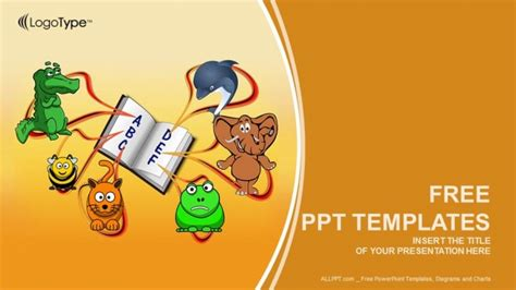 animals alphabet education powerpoint templates